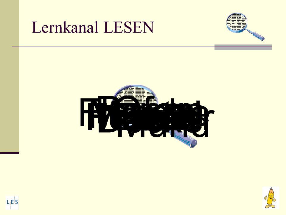 Lernkanal LESEN 8 : 2 11 - 4 7 x 7 15 : 3 25 x 2 46 + 13