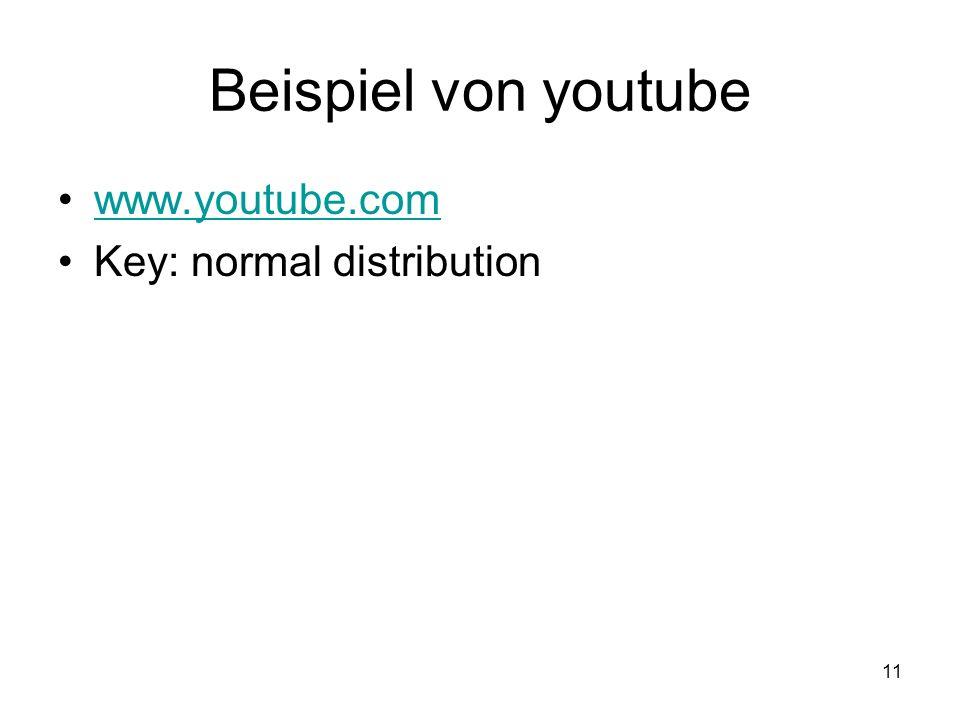11 Beispiel von youtube www.youtube.com Key: normal distribution