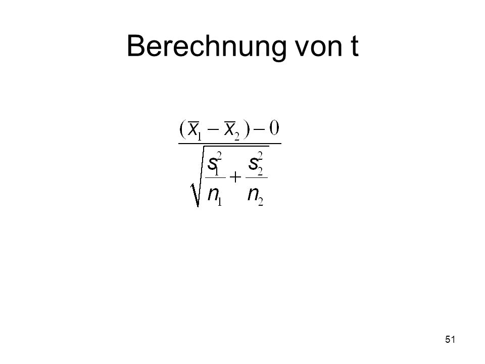 51 Berechnung von t