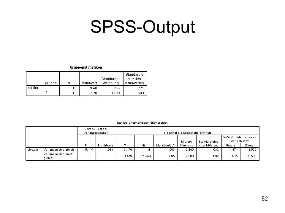 52 SPSS-Output