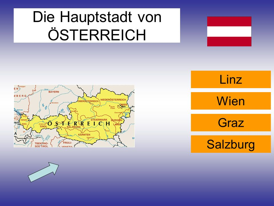 Die Hauptstadt von ÖSTERREICH Linz Wien Graz Salzburg