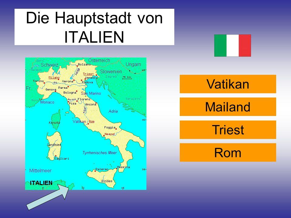 Die Hauptstadt von ITALIEN Vatikan Rom Triest Mailand