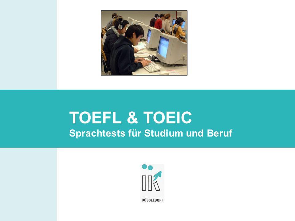 TOEFL & TOEIC Sprachtests für Studium und Beruf