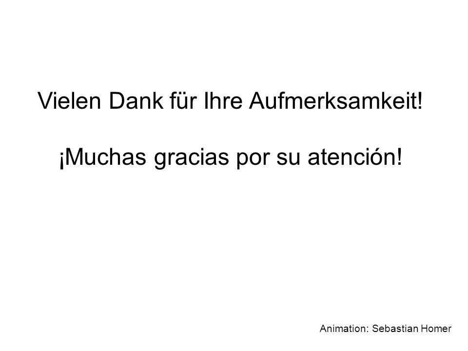 Vielen Dank für Ihre Aufmerksamkeit! ¡Muchas gracias por su atención! Animation: Sebastian Homer