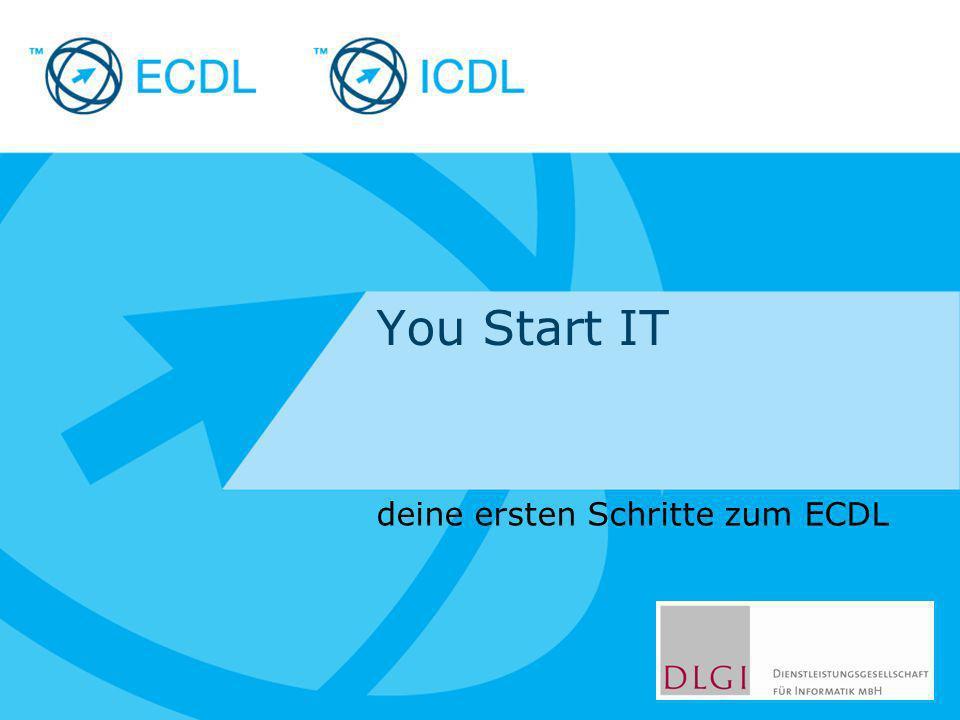Placeholder for licensee logo You Start IT deine ersten Schritte zum ECDL