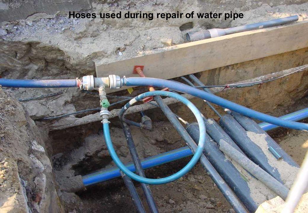 C 2009 Tuschewitzki Hygiene-Institut des Ruhrgebiets Institut für Umwelthygiene und Umweltmedizin www.hyg.de 8 Hoses used during repair of water pipe