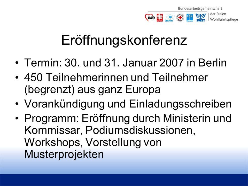 Eröffnungskonferenz Termin: 30. und 31.