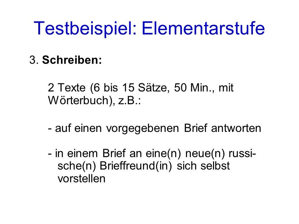 Testbeispiel: Elementarstufe 3.