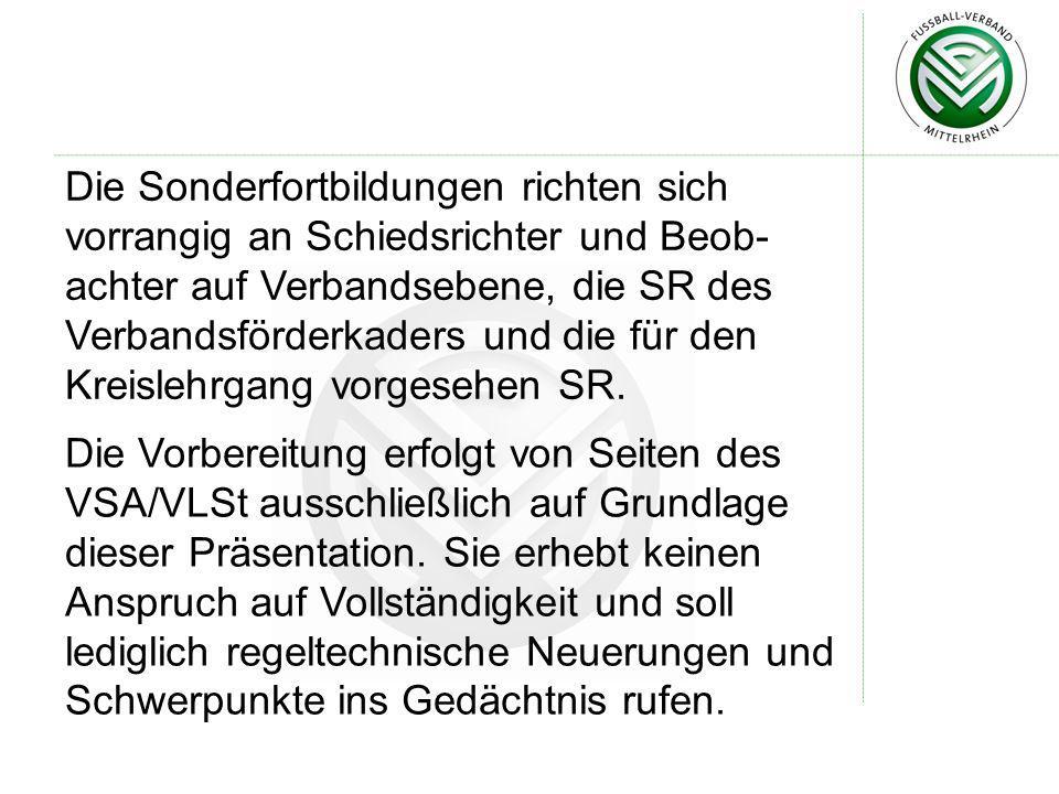 Die Anweisung des DFB Nr.