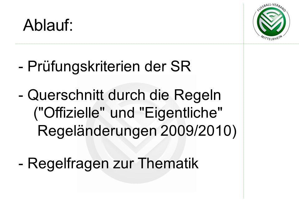 Leistungsprüfungskriterien Neue körperliche Leistungsprüfung (FIFA-Test) nunmehr für alle Schiedsrichter ab Bezirksliga aufwärts verbindlich!