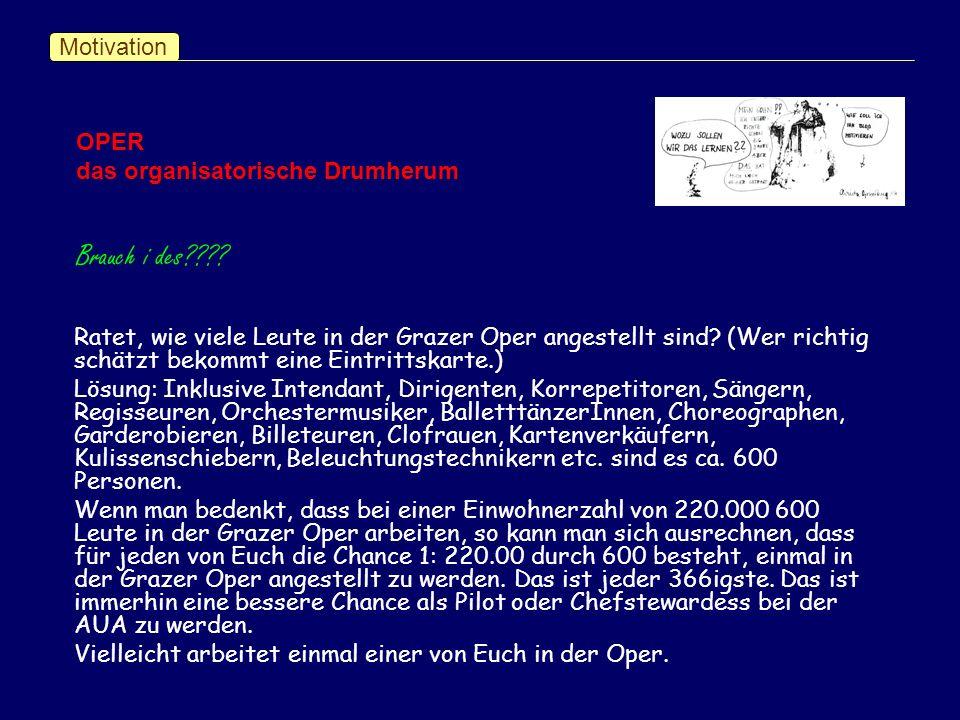 Motivation Ratet, wie viele Leute in der Grazer Oper angestellt sind.