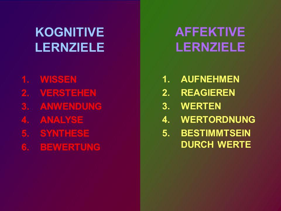 AFFEKTIVE LERNZIELE 5.