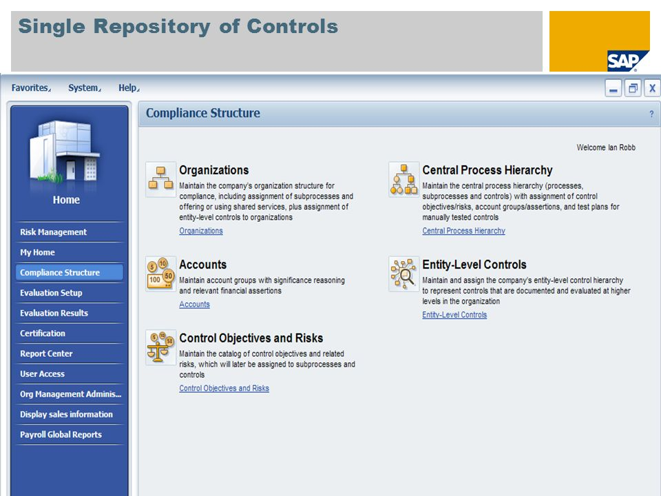 © SAP 2008 / Page 8 Single Repository of Controls