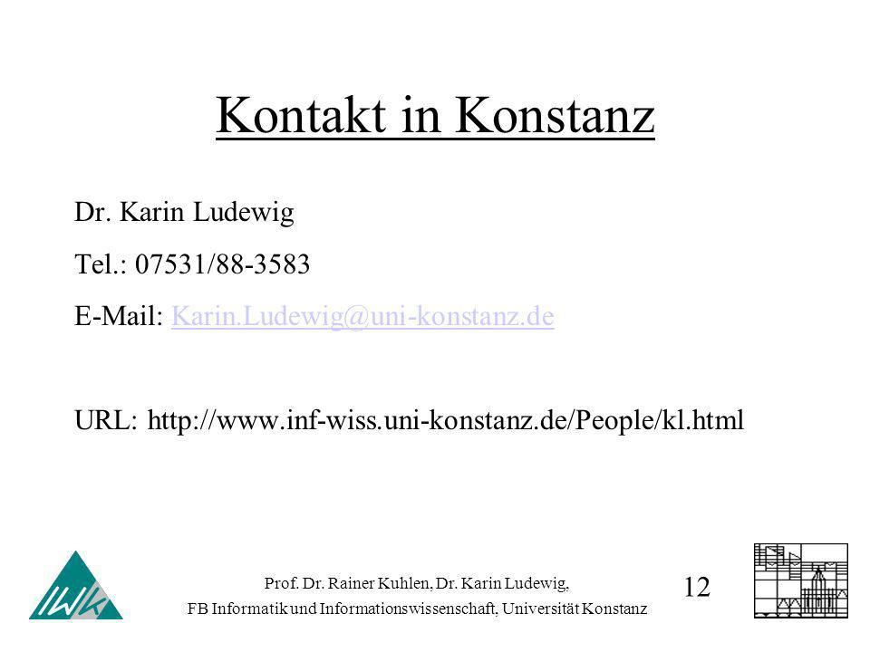Kontakt in Konstanz Dr.