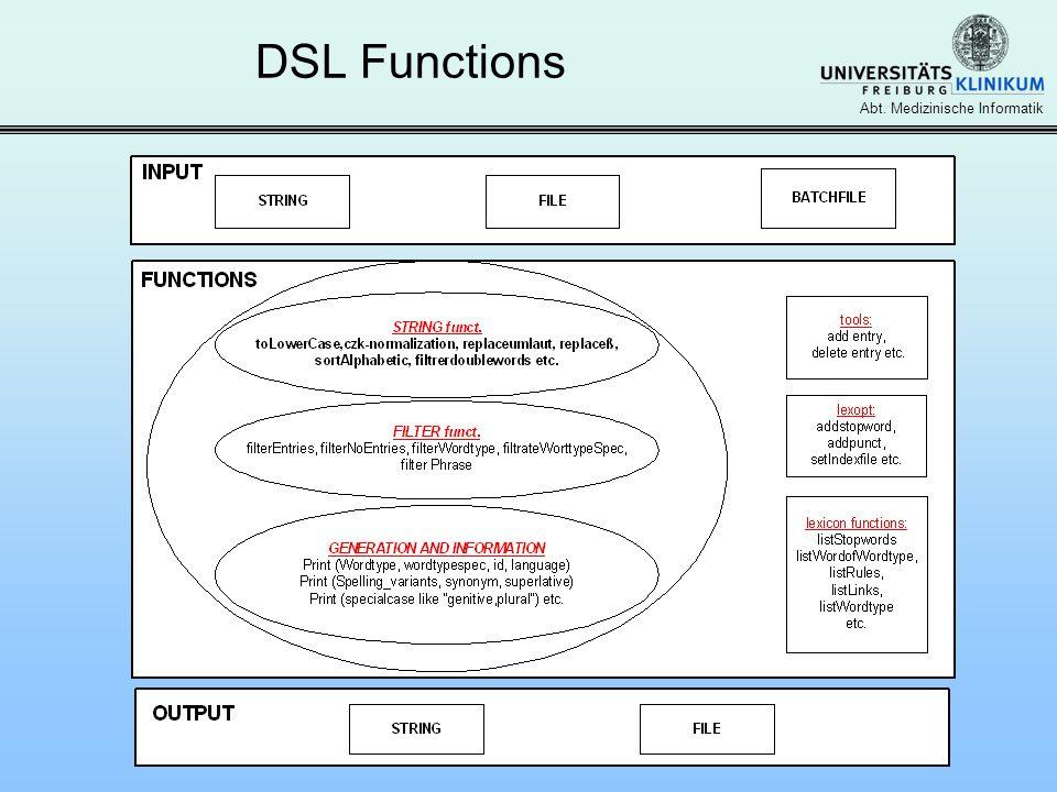 Abt. Medizinische Informatik DSL Functions