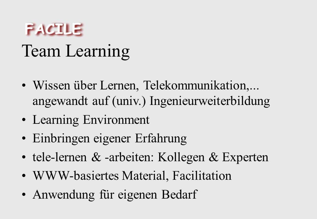 Team Learning Wissen über Lernen, Telekommunikation,...