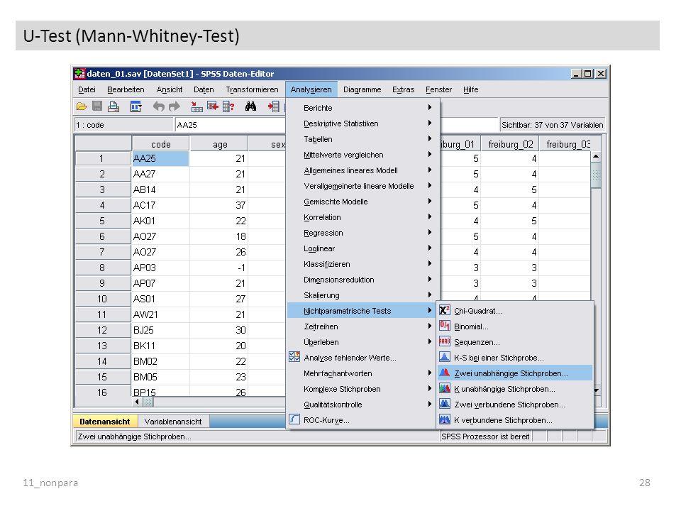 U-Test (Mann-Whitney-Test) 11_nonpara28