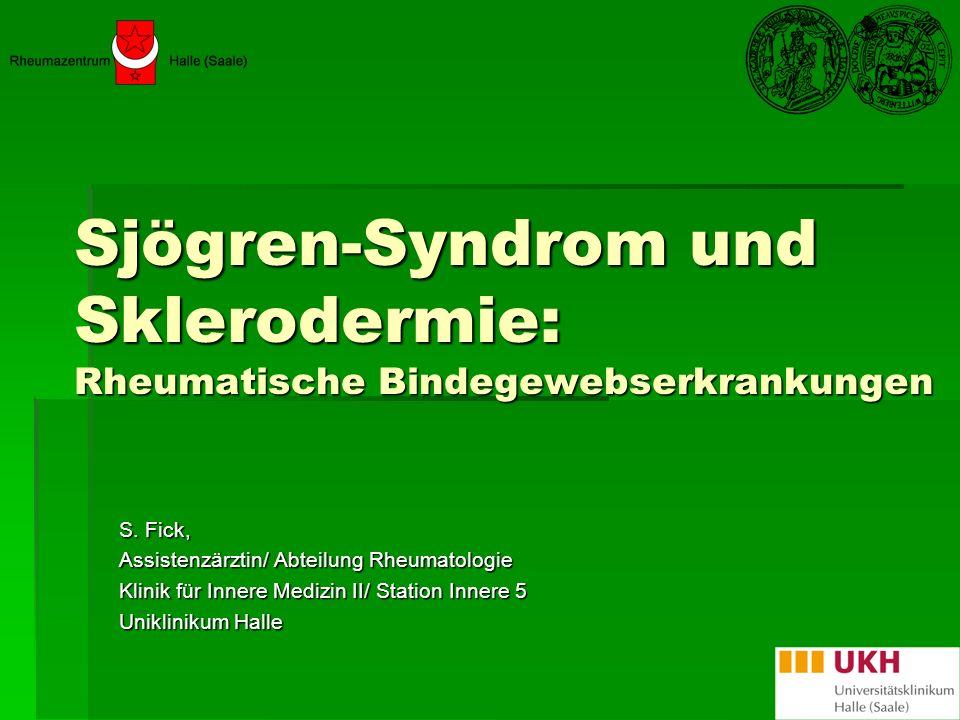 Sjögren-Syndrom (SS) Erstbeschreibung 1932 durch Henrik Sjögren einem schwedischen Augenarzt Erstbeschreibung 1932 durch Henrik Sjögren einem schwedischen Augenarzt Kollagenose Kollagenose Primäre vs.