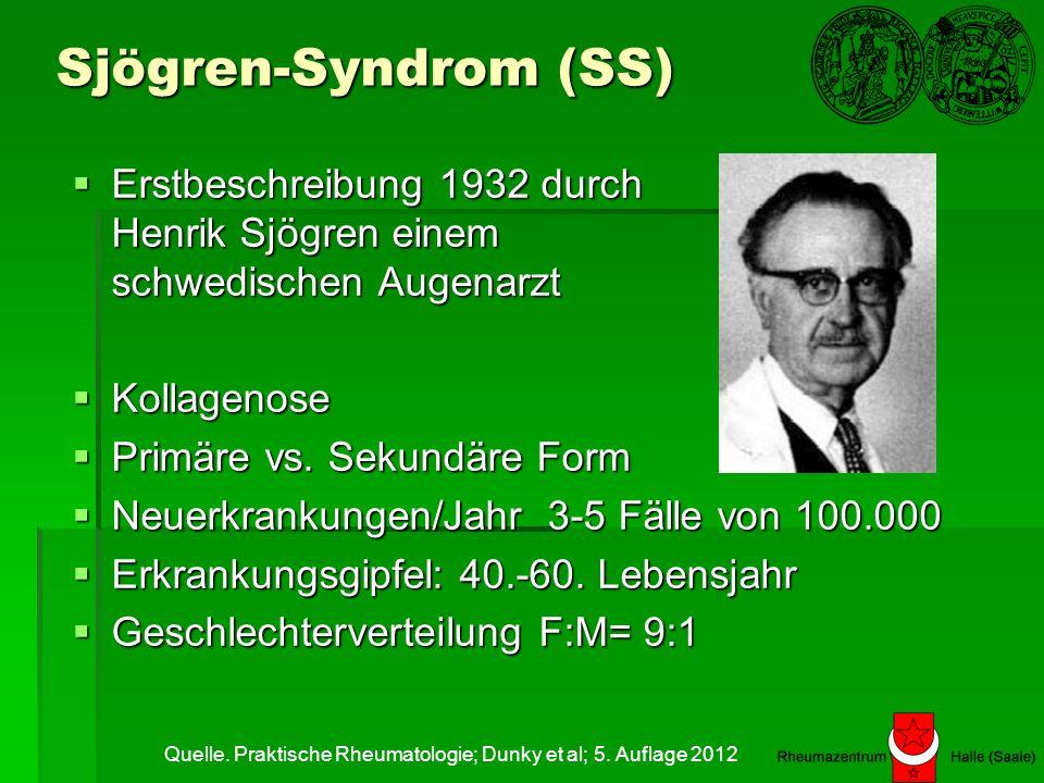 SS-Krankheitsentstehung Augen und Mundtrockenheit Symptome je nach befallenem Organ Angeboren: Äußere Einflüsse