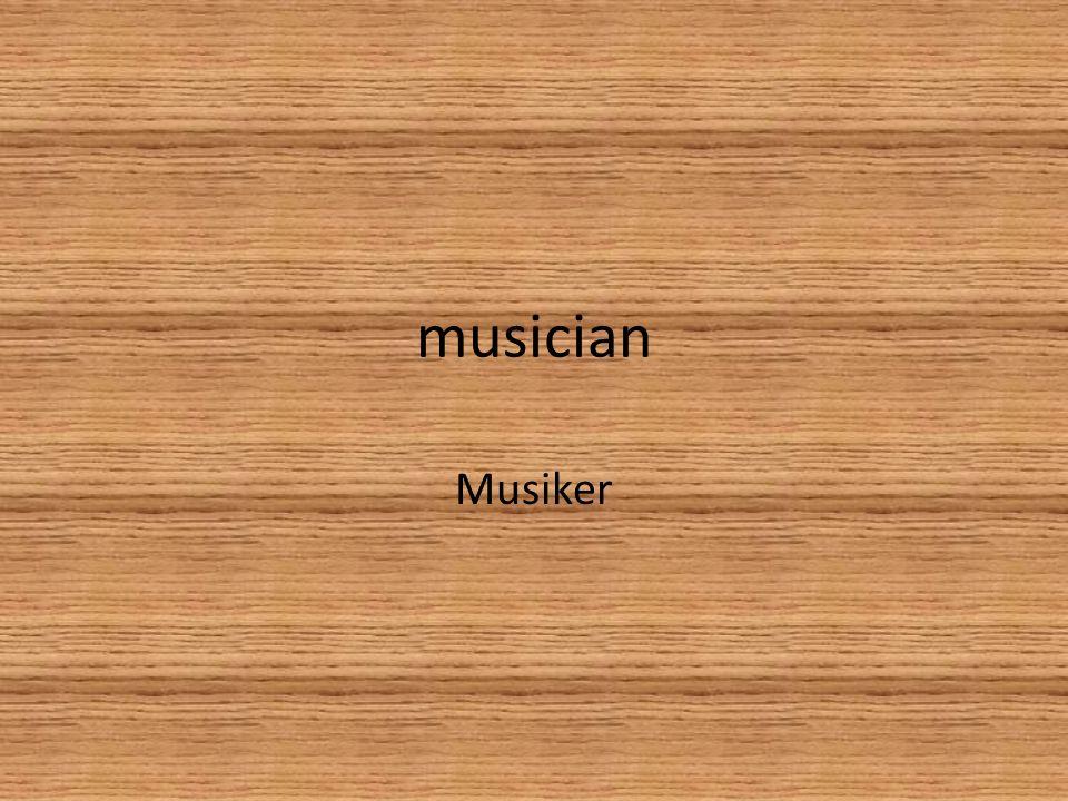 musician Musiker