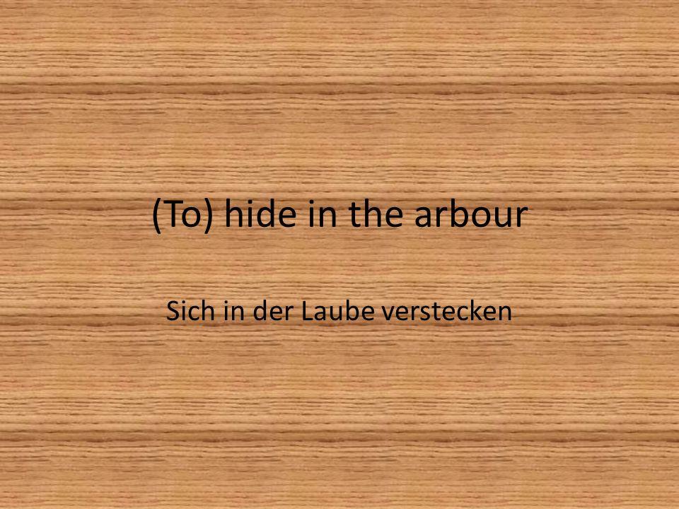 In an aside In einem Versteck