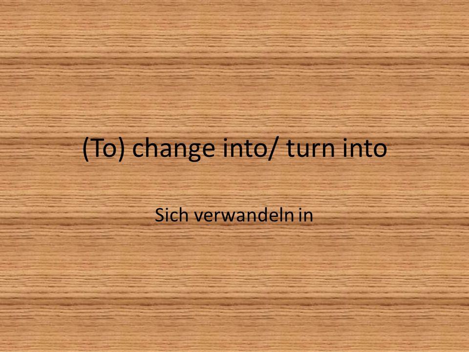 (to) pretend to be… Vorgeben…