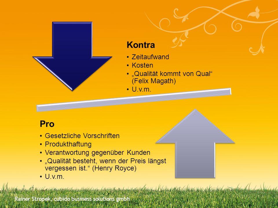 Qualitätssicherung vs.