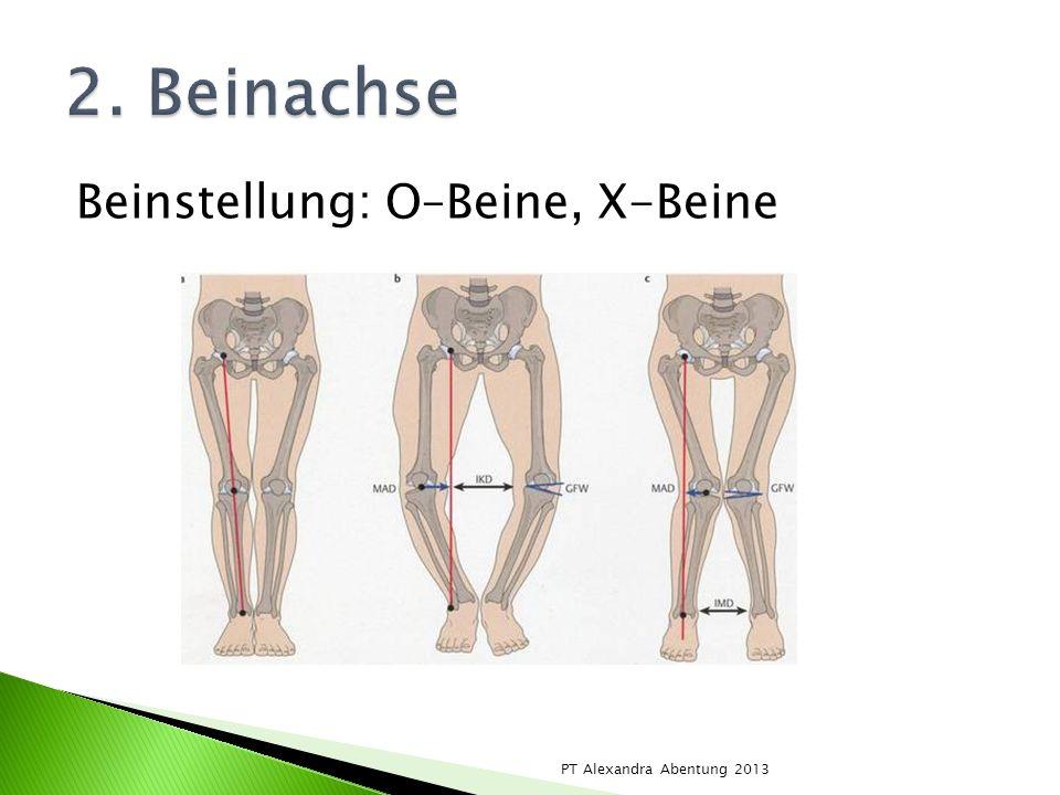 Beinstellung: O–Beine, X-Beine PT Alexandra Abentung 2013