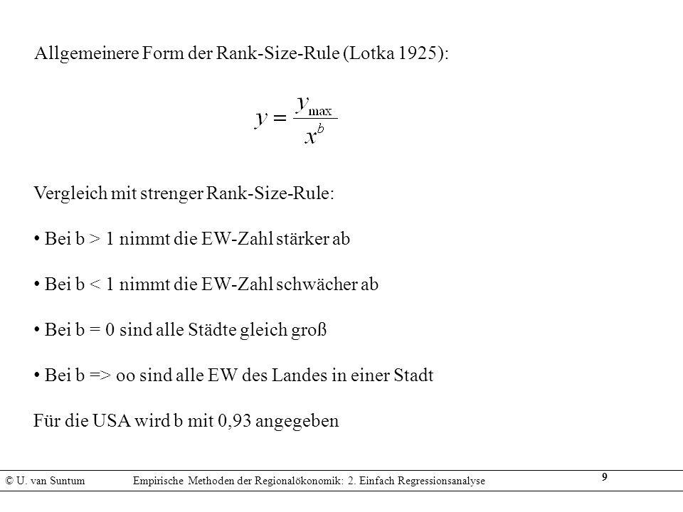 10 Linearer Schätzansatz erfordert Logarithmierung © U.