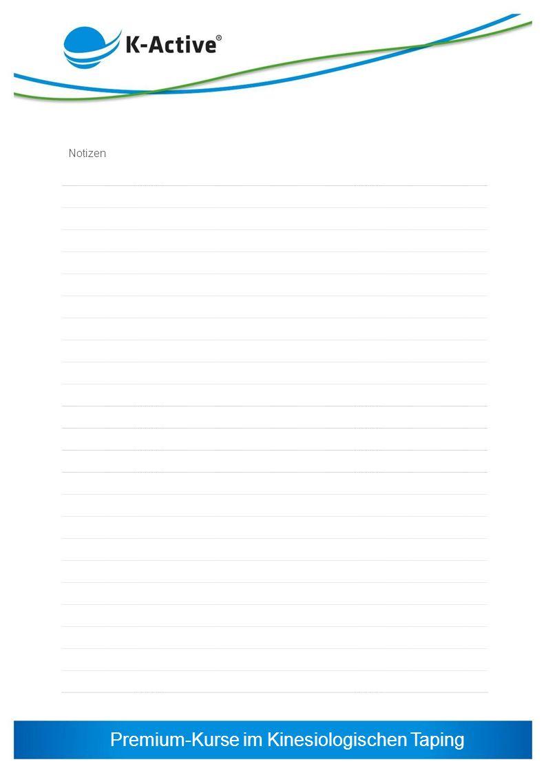 Premium-Kurse im Kinesiologischen Taping Notizen