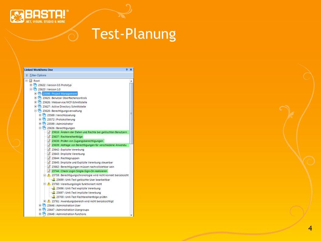 5 Testmethoden im Überblick Unit-Tests Web-Tests UI Tests Load Tests Manual Tests Code Metriken
