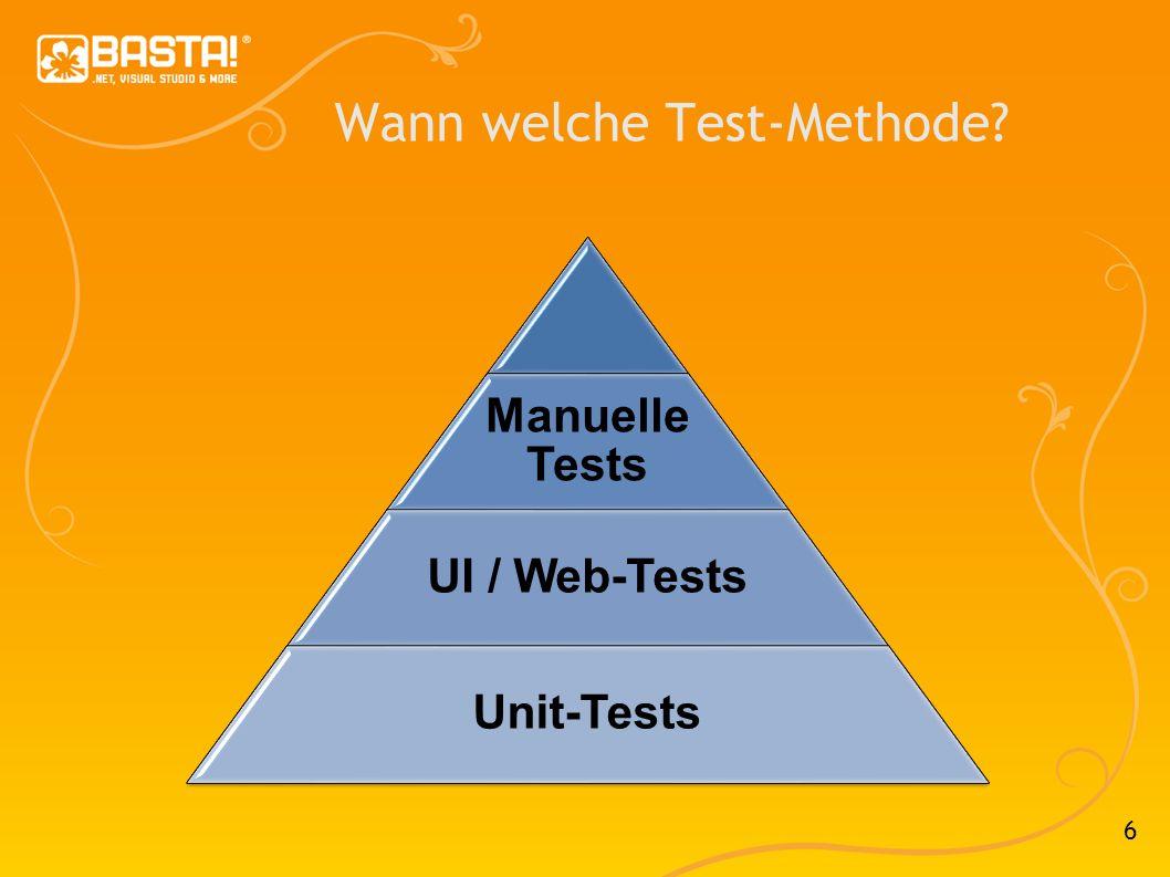 7 Test-Strategie Test-Planung Testspezifikation Team-Organisation Wer soll testen.