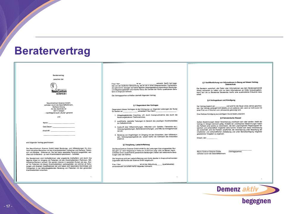 - 17 - Beratervertrag