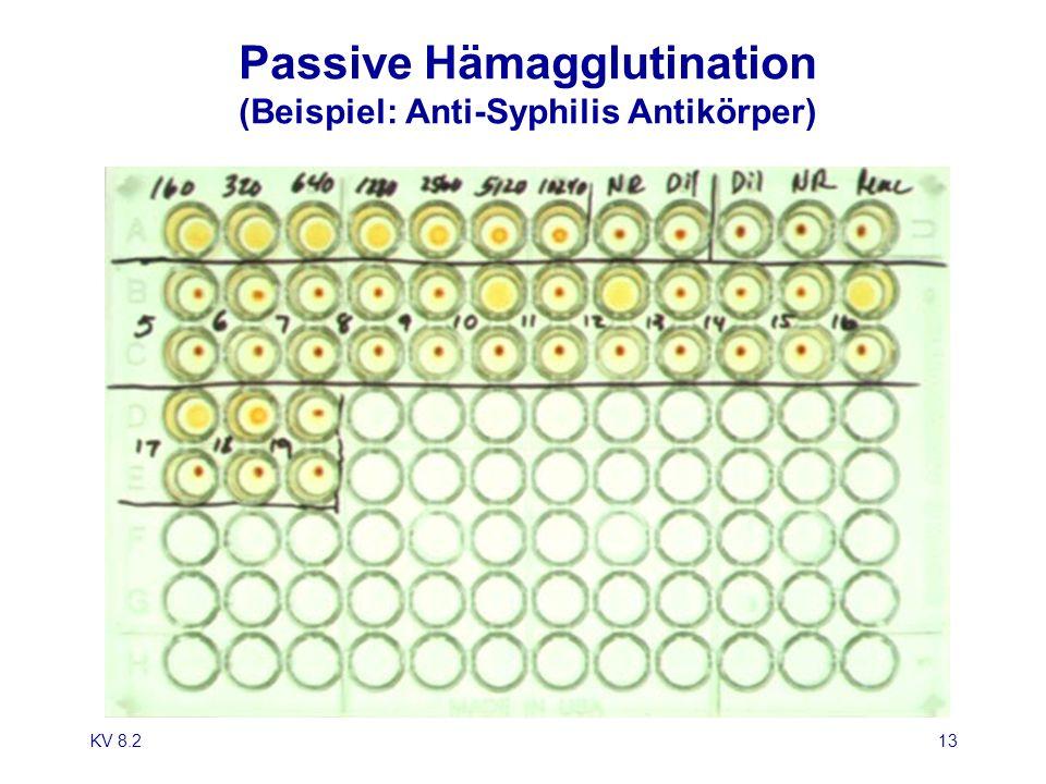 KV 8.213 Passive Hämagglutination (Beispiel: Anti-Syphilis Antikörper)