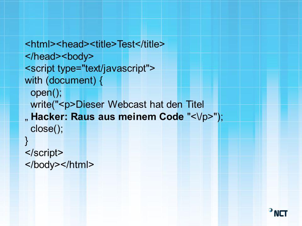 NCT Availability Services GmbH Hacker: Raus aus meinem Code Webcast Ralf Adebar Beratung