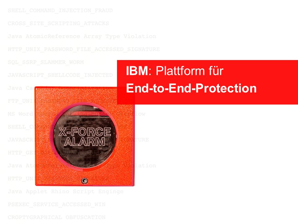 IBM: Plattform für End-to-End-Protection