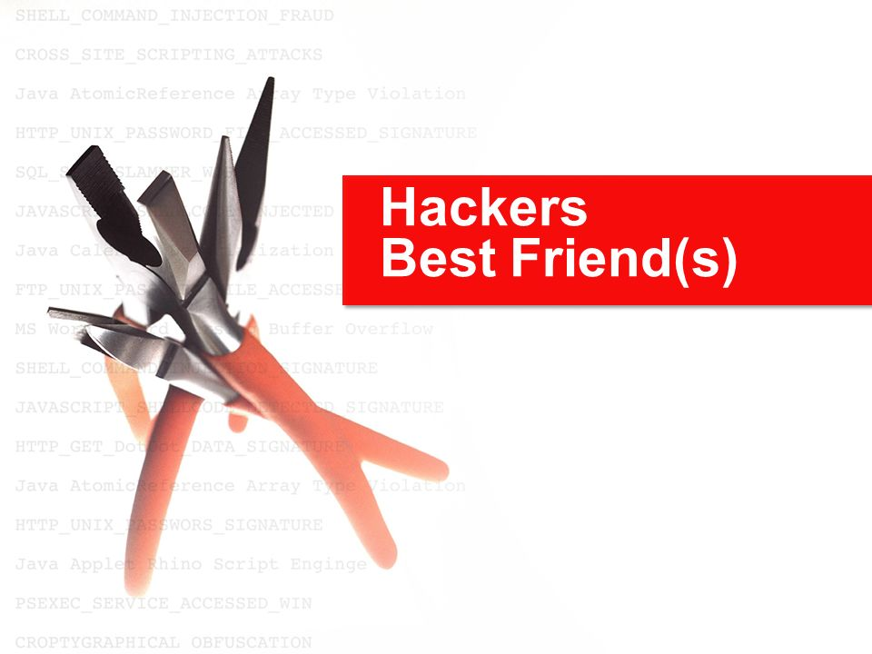 Hackers Best Friend(s)