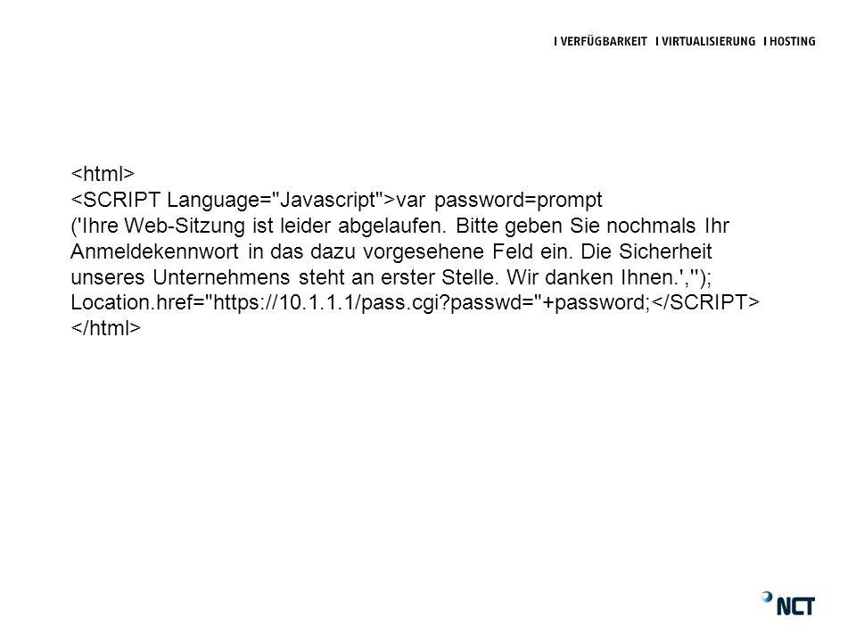 var password=prompt ( Ihre Web-Sitzung ist leider abgelaufen.