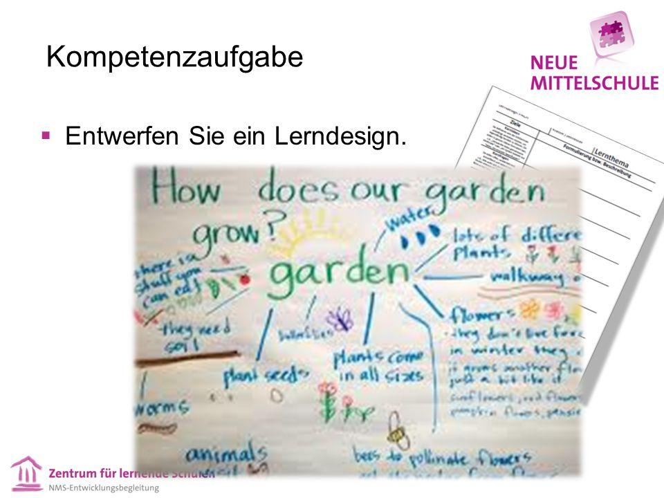 Kompetenzaufgabe Entwerfen Sie ein Lerndesign.