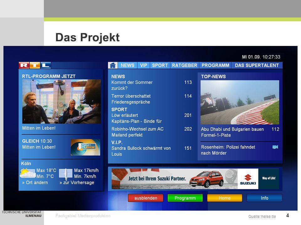 Fachgebiet Medienproduktion 5 Das Projekt Das Problem: Quelle: hbbtv.org