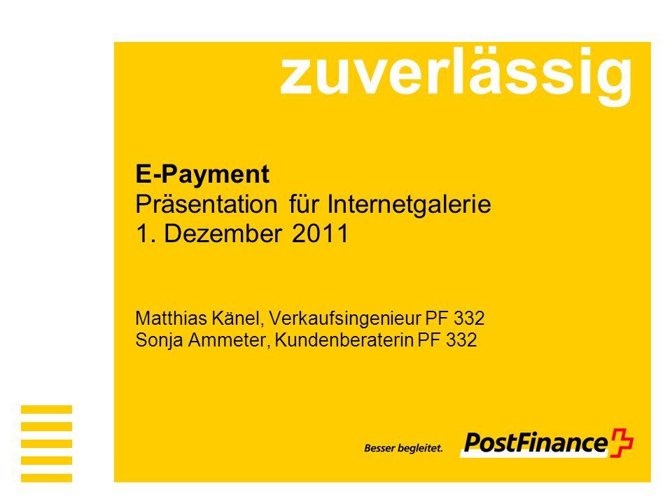 zuverlässig E-Payment Präsentation für Internetgalerie 1.