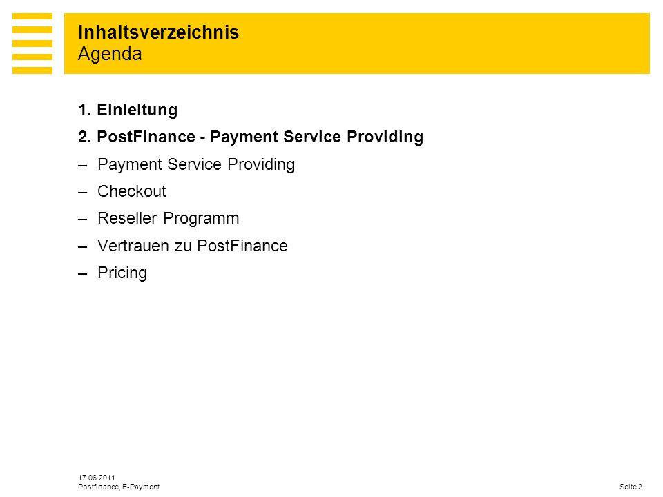 PostFinance - Payment Service Providing