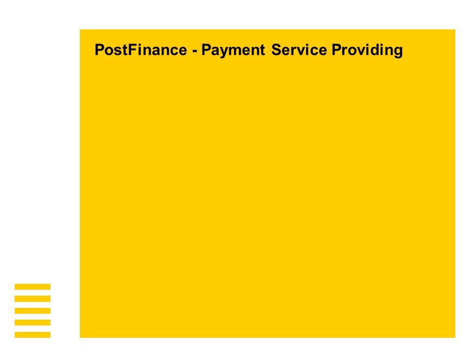 Seite 4PostFinance, E-Payment Präsentation Sven Löffel PF35 Acquirer / CHF Clearing Credit Card Int.