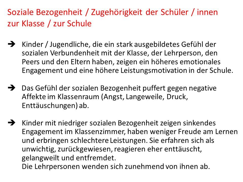 Wiederholung, Nicht-Wiederholung der Bindungs- beziehungen im Sozialraum Schule 1.
