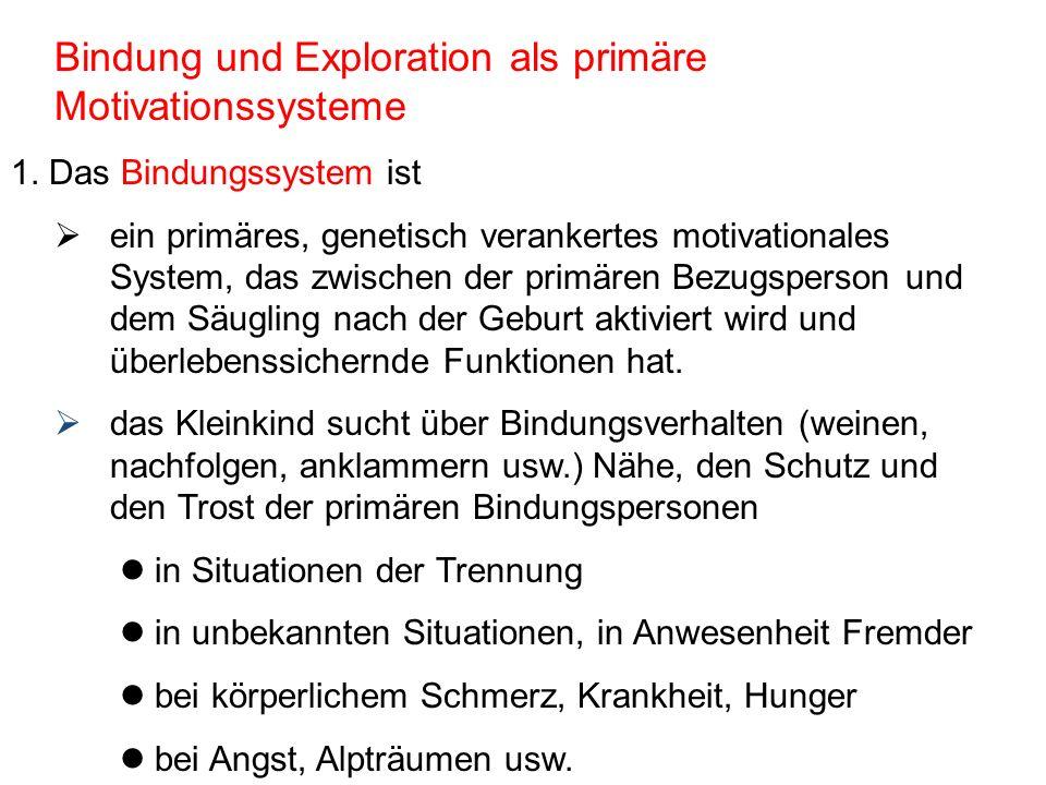Bindung und Exploration als primäre Motivationssysteme 2.