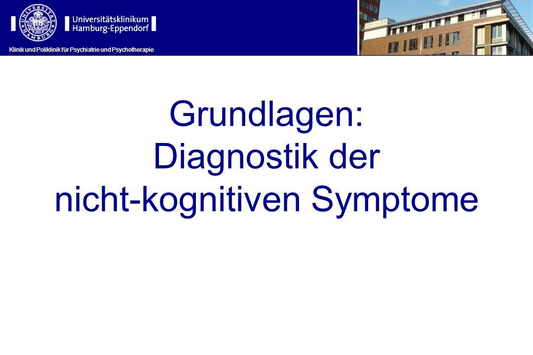 Klinik und Poliklinik für Psychiatrie und Psychotherapie Grundlagen: Diagnostik der nicht-kognitiven Symptome Klinik und Poliklinik für Psychiatrie un