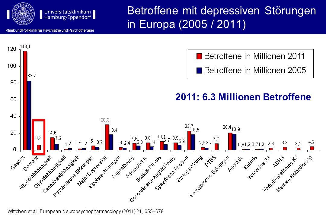 Klinik und Poliklinik für Psychiatrie und Psychotherapie Wittchen et al. European Neuropsychopharmacology (2011) 21, 655–679 Betroffene mit depressive