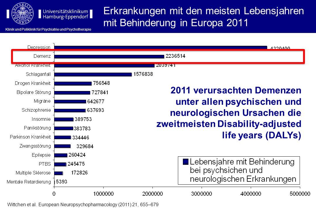Klinik und Poliklinik für Psychiatrie und Psychotherapie Therapie kognitiver Störungen: Pharmakotherapie Klinik und Poliklinik für Psychiatrie und Psychotherapie