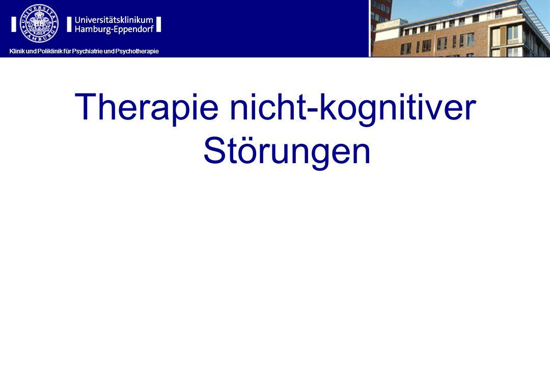 Klinik und Poliklinik für Psychiatrie und Psychotherapie Therapie nicht-kognitiver Störungen Klinik und Poliklinik für Psychiatrie und Psychotherapie