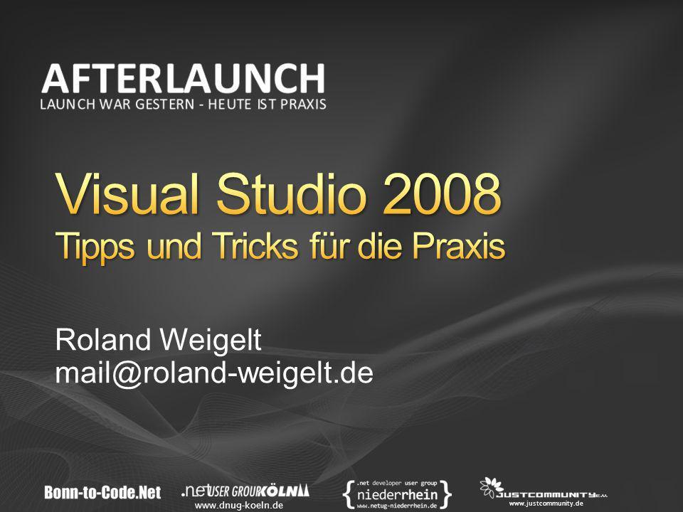 www.dnug-koeln.de www.justcommunity.de Roland Weigelt mail@roland-weigelt.de